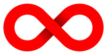 Infinity Symbol Red - Simple W...
