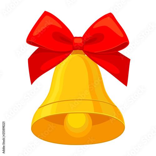 Cuadros en Lienzo Colorful cartoon christmas bell