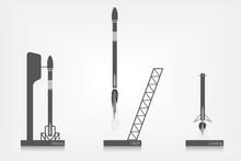 Three Stages Of Spaceship Flight
