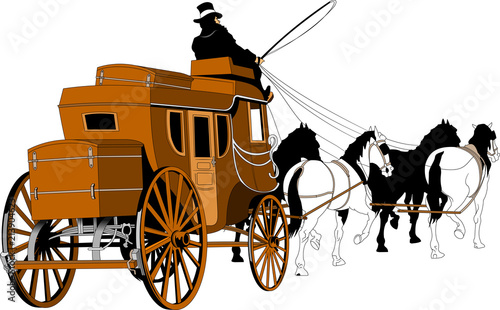 Canvas Print stagecoach