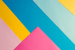 Colorful bright geometric background. Minimal fashion summer concept. Flat lay.