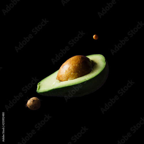 Space or planets universe cosmic abstract background. Abstract fruit background. Creative space. Summer food concept. - 213912480