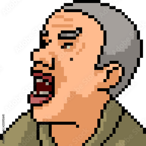 Photo sur Toile Pixel vector pixel art old man