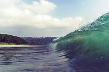 Looking At A Barreling Wave Break