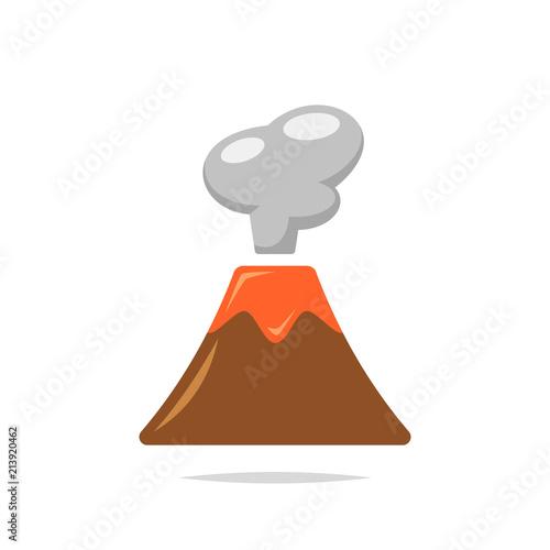 Volcano vector isolated Fototapete