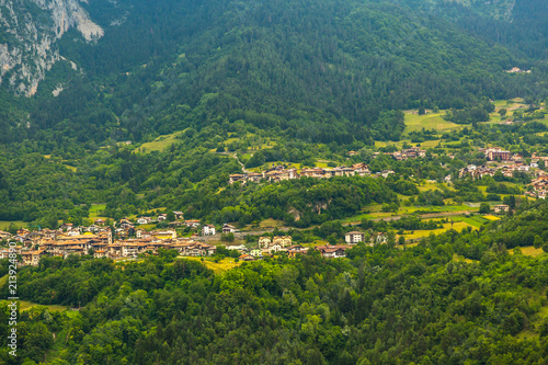 View on traditional Italian village in the Apennines mountains.