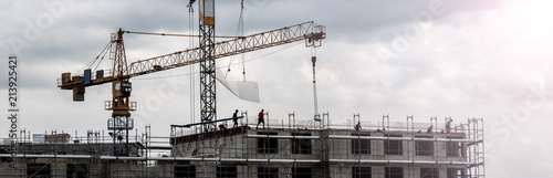 Fotomural  Großbaustelle, Bau- Projekt
