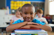 canvas print picture Proud african school boy