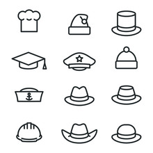 Hats Icons Set