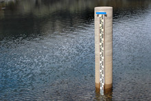 Water Level Gauge In A Lake