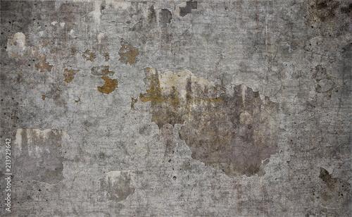 Poster Vieux mur texturé sale Old damaged concrete wall texture background