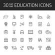 Line vector icon set education