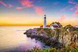 Cape Elizabeth, Maine, USA at Portland Head Light at dawn.