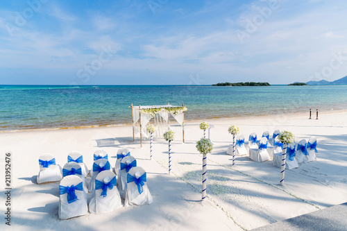 Magnificent Wedding Ceremony Venue On The Beach With Beautiful Blue Sky Interior Design Ideas Clesiryabchikinfo