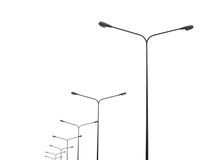 Street Lightting Poles Isolate...