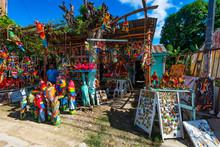 Traditional Souvenir Shop In Dominican Republic