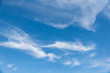 canvas print picture - Cirrostratus cloudscape or Fluffy cirrus clouds on blue sky, Beautiful cirrocumulus on the high altitude layer