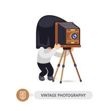 Vintage Photographer Cartoon Character