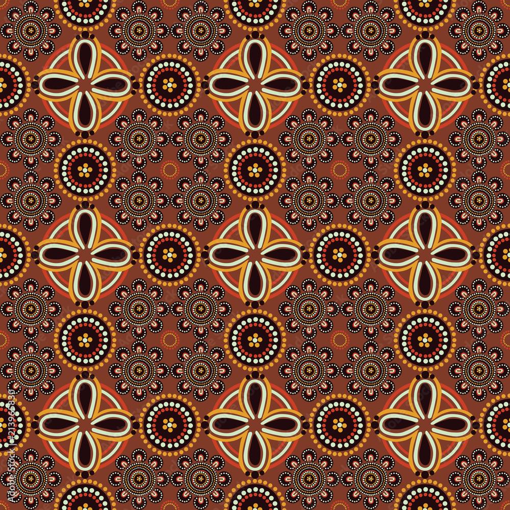 pattern in the style of Australian Aborigines