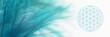 canvas print picture - Blume des Lebens mit zarter Feder  - Leichtigkeit