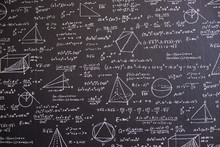 Math On Black Board With Many ...
