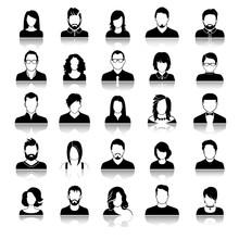 Set Of Avatar Or User Icons. V...