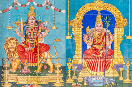 Sri Maha Mariamman Temple Dhevasthanam, Kuala Lumpur, Malaysia. Poster