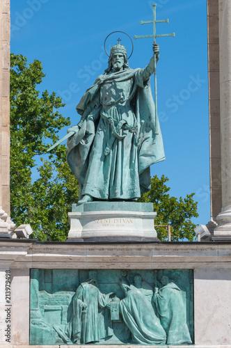 Fotografie, Obraz  Der 1. ungarische König Stephan