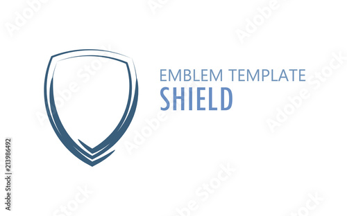 Cuadros en Lienzo Shield Logo on White