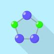 Pentagon molecule icon. Flat illustration of pentagon molecule vector icon for web design