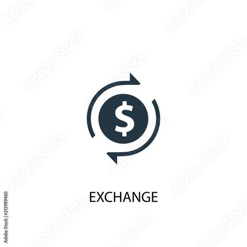 Fototapeta exchange creative icon. Simple element illustration obraz