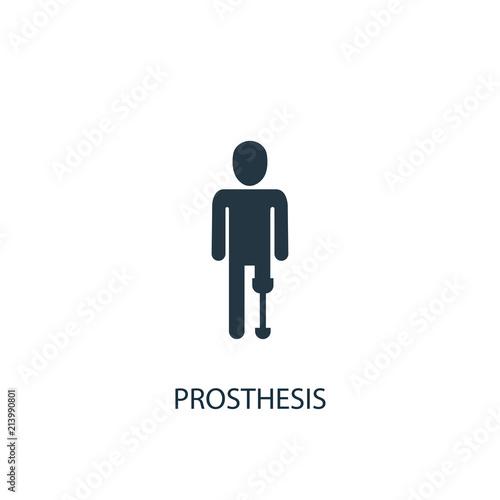 Photo prosthesis creative icon. Simple element illustration