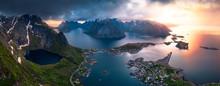 Reinebringen At Lofoten Midnig...