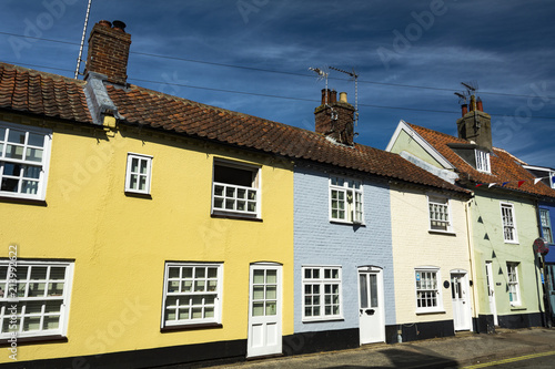 Canvas Print Colourful row of buildings near the Suffolk coast in Southwold