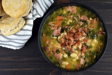 Ham And Bean Soup With Biscuits