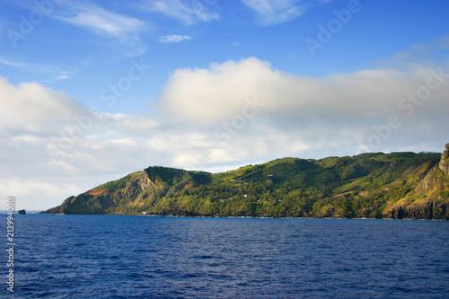 Fototapeta Aadmstown on Pitcairn Island in the South Pacific