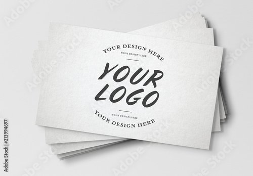 Stack Of Business Cards Mockup Buy This Stock Template And Explore