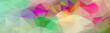 Multicolor banner background from triangles, header for web
