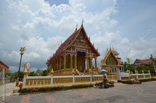 Tuinposter Bedehuis Buddhist temple in Thailand asia