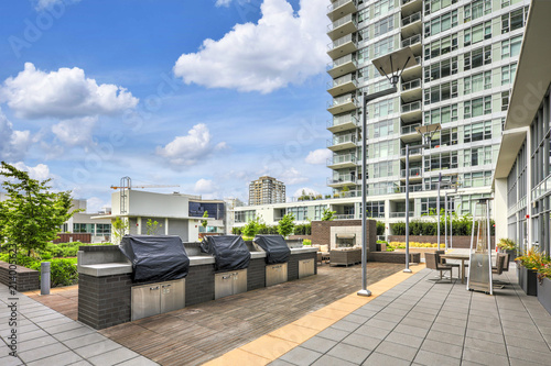 Exterior of Contemporary high-rise apartment building. Canvas Print