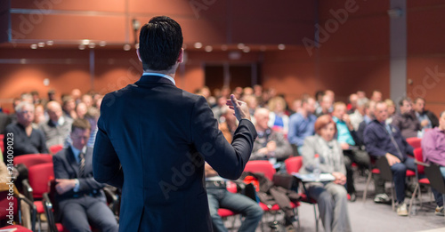 Stampa su Tela Speaker giving a talk on corporate business conference
