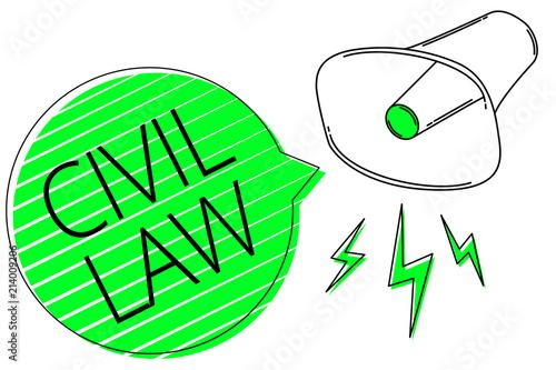 Fotografie, Obraz  Text sign showing Civil Law