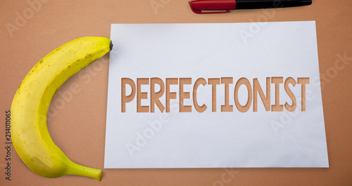 Text sign showing Perfectionist Fototapet