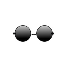 Glasses Round Vector Icon For ...