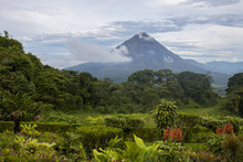 Arenal Volcano Rises In Distan...