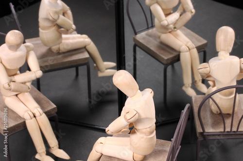 Fotografia 鏡に映る人形