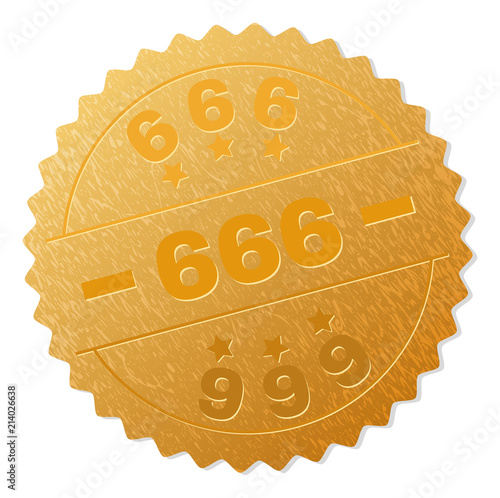 фотография  666 gold stamp seal