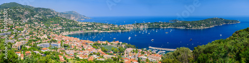 Deurstickers Nice Great beautiful panorama of Villefranche-sur-Mer. French Riviera. Cote d'Azur.