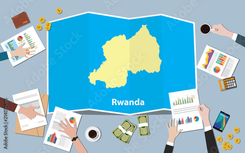 rwanda africa economy country growth nation team discuss with fold ...