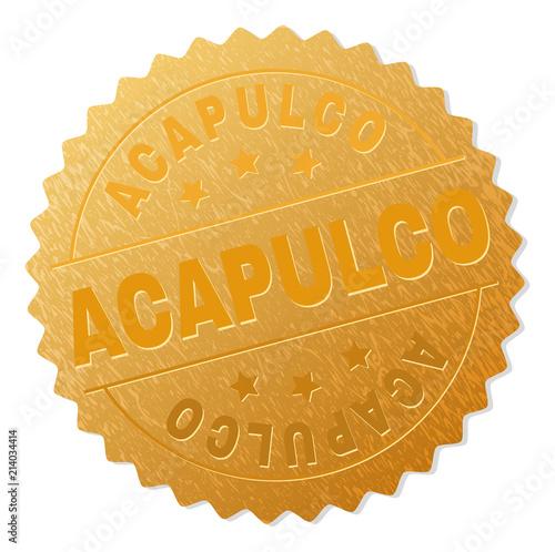 Fotografija  ACAPULCO gold stamp seal